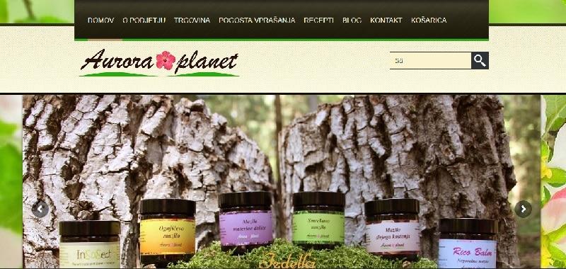 izdelava spletne trgovine aurora-planet.com