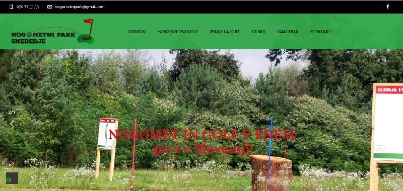Spletna stran nogometnipark.si