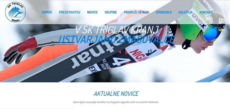 izdelava spletne strani SK Triglav
